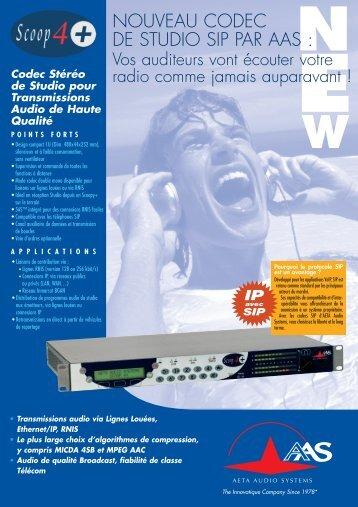 + Fiche produit - AETA Audio Systems