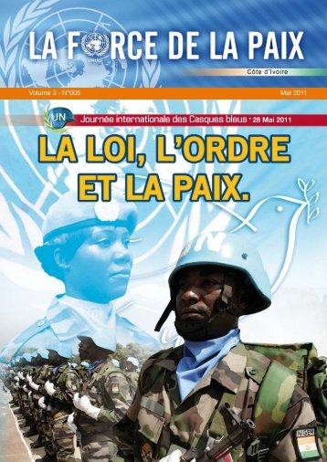 Côte d'Ivoire Volume 3 - N°005 Mai 2011 - Onuci