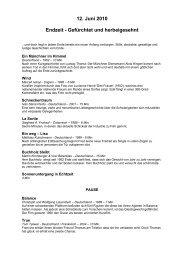 12. Juni 2010 Endzeit - Gefürchtet und herbeigesehnt - Uferflimmern