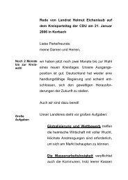 Rede von Landrat Helmut Eichenlaub auf dem Kreisparteitag der ...