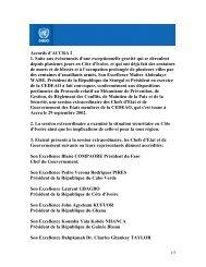 Accords d'ACCRA I 1. Suite aux évènements d'une ... - Onuci