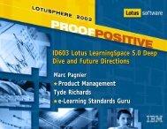 ID603 Lotus LearningSpace 5.0 Deep Dive and ... - Lotus Sandbox