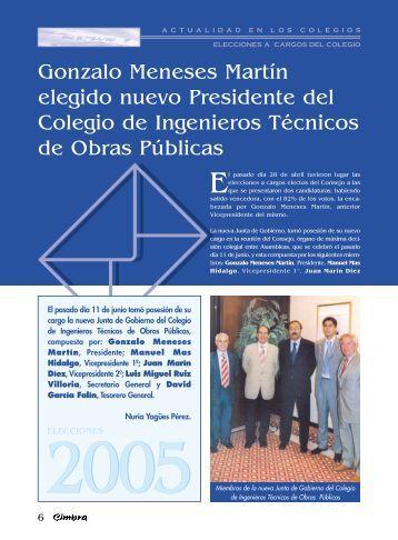 Gonzalo Meneses Martín elegido nuevo Presidente del Colegio de ...