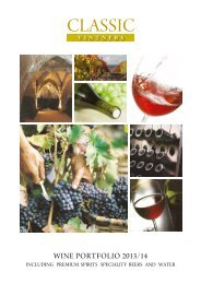Wine brochure - Classic Drinks