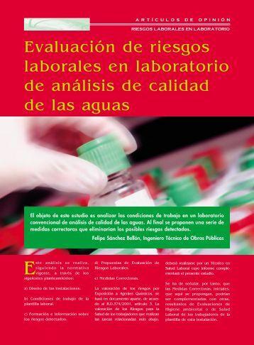 Evaluación de riesgos laborales en laboratorio de análisis de ...