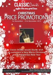 CHRISTMAS 1st November - 31st December 2013 - Classic Drinks