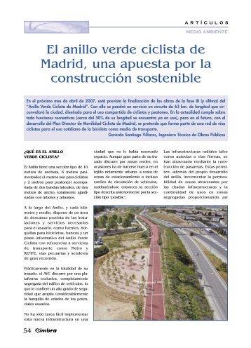 En estos ltimos a os - Anillo verde ciclista madrid mapa ...