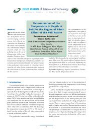 Determination of the Temperature in Depth of Soil for the ... - isesco