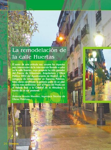 La remodelación de la calle Huertas - Colegio de Ingenieros ...