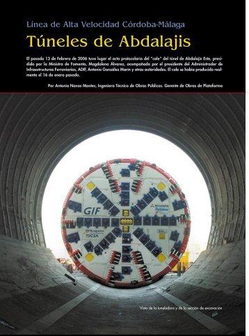 Túneles de Abdalajis - Colegio de Ingenieros Técnicos de Obras ...