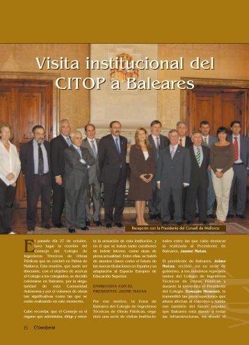 Visita institucional del CITOP a Baleares Visita institucional del ...
