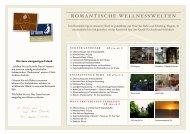 Arrangements - Romantik Hotel Johanniter-Kreuz