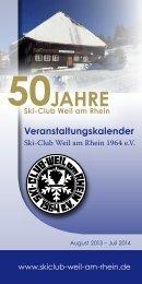 Veranstaltungskalender - Ski-Club Weil am Rhein 1964 eV