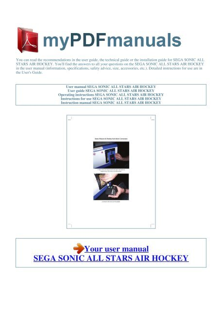 sonic all stars air hockey - MY PDF MANUALS