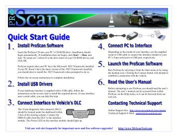 Quick Start Guide : ProScan Scan Tool with USB Interface