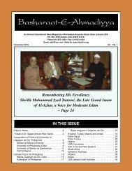 Basharaat Vol. 8 No. 1 - The Lahore Ahmadiyya Movement in Islam