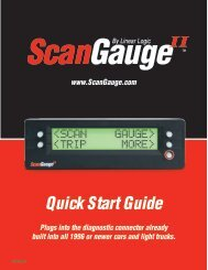Quick Start Guide - ScanGauge