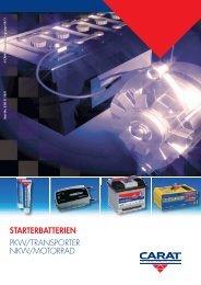 starterbatterien PKW/TRANSPORTER NKW/MOTORRAD