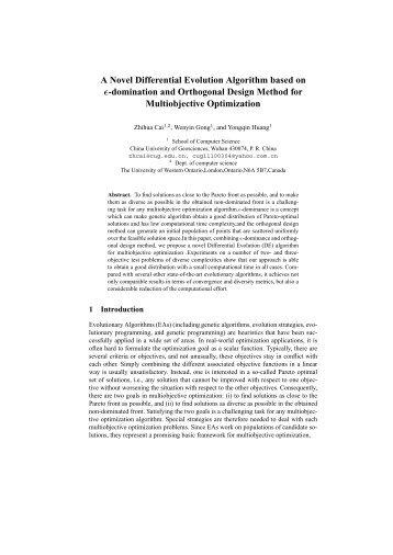 A Novel Differential Evolution Algorithm based on epsilon ...