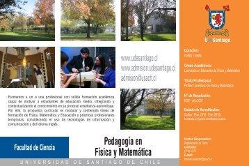 Pedagogía en Física y Matemática - Admisión Universidad de ...