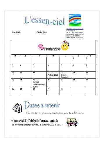 13 février 2013 – journée pédagogique pour tous les élèves