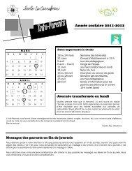 Année scolaire 2011-2012