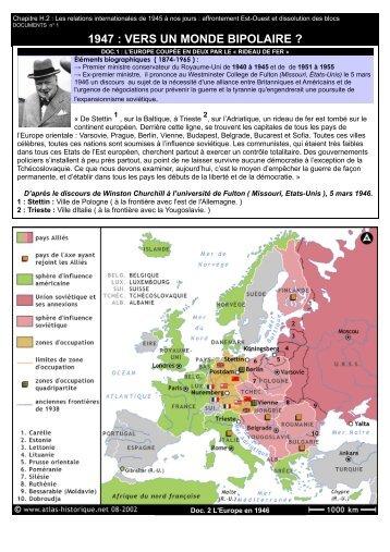 1947 : VERS UN MONDE BIPOLAIRE ?