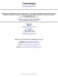 Management of medication overuse headache: 1-year - marchioli