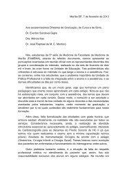 Marília-SP, 7 de fevereiro de 2013 Aos excelentíssimos ... - marchioli