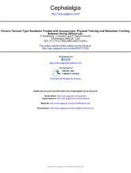 Chronic tension-type headache treated with ... - ResearchGate