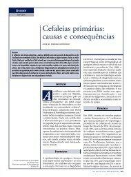 Cefaleias primárias: causas e consequências - marchioli
