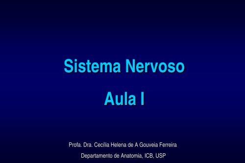 Sistema Nervoso - Profa Cecilia H G Ferreira - marchioli