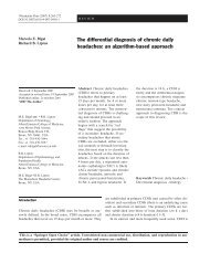 The differential diagnosis of chronic daily headaches: an ... - marchioli