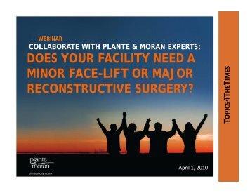 reconstructive surgery? - Plante Moran