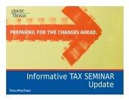 Informative TAX SEMINAR Update - Plante Moran