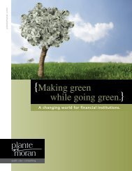 {Making green while going green.} - Plante Moran