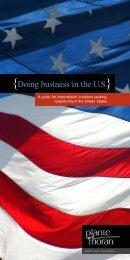{Doing business in the U.S.} - Plante Moran