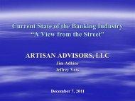 Bank Regulators and Bankers: Two Views of the ... - Plante Moran