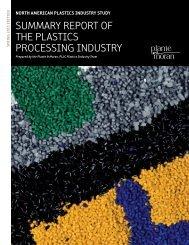 Summary report of the plaSticS proceSSing induStry - Plante Moran