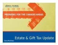 Estate & Gift Tax Update - Plante Moran