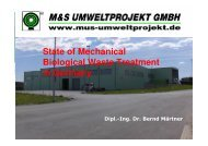 State of Mechanical Biological Waste Treatment in Germany