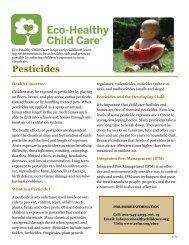 Pesticides - the Children's Environmental Health Network
