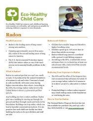 Radon 8-31.pub - Children's Environmental Health Network