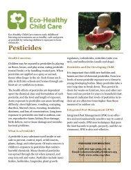 Pesticides - Children's Environmental Health Network