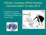 47èmes Journées APHG Picardie Clermont-Mardi 19 mars 2013