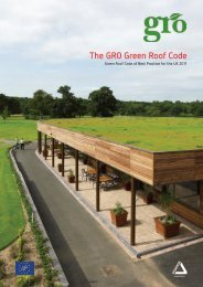 The GRO Green Roof Code - SIG Design and Technology