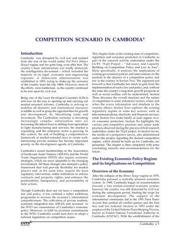COMPETITION SCENARIO IN CAMBODIA - cuts ccier