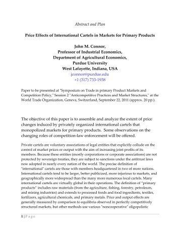 Price Effects of International Cartels in Markets for ... - cuts ccier