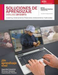 Soluciones de Entrenamientos - Training from DuPont