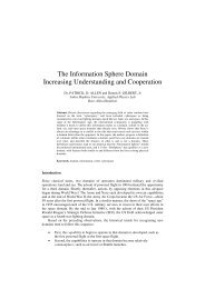 The Information Sphere Domain  Increasing Understanding and ...
